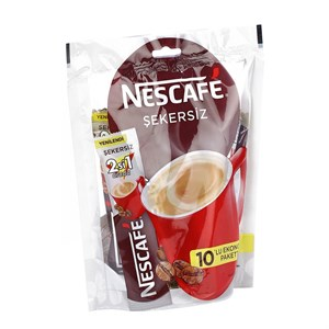 NESCAFE 2 IN 1 SEKERSIZ 10*11 GR