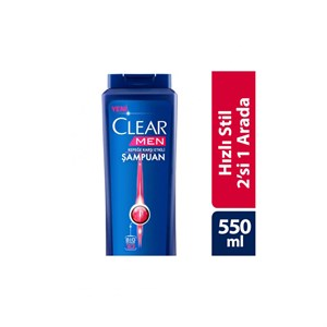 Clear Men 2si 1 Aarada Hızlı Stil 550 ml