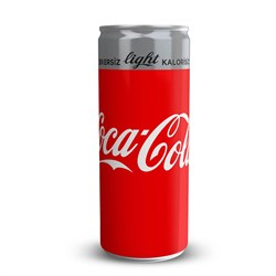 COCA COLA LIGHT 250 ML KUTU