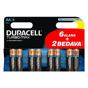 DURACELL AAA TURBO MAX 6+2 INCE